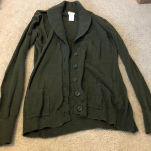 Green Button Cardigan